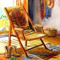 Alice Art Gallery - Jonel Scholtz - SA Artist - Interior oil Rocking Chair, Oil Paintings, Art Gallery, Alice, African, Interiors, Artist, Chair Swing, Rocking Chairs