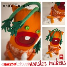 This sooper dooper bunny eating carrot was a collaboration between the monster crew and our friend Amber from Felt Like It. He will be part of our Monster Makers event to benefit Art and Justice League in Denver on May 3rd. Join us: https://www.facebook.com/events/171334719685945/