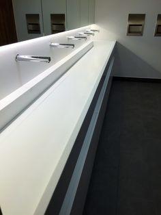Krion Vanity trough  Project: 110 Queen Street, Glasgow