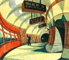Cyril Edward Power (17 December 1872 – 25 May 1951) was an English artist - The Tube Station