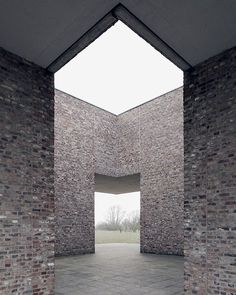 Via _roomonfire One of German artist Erwin Heerich's 11 pavilions for the Museum Insel Hombroich, both a park and museum combining architecture, art and nature over 62 acres of meadowland in Neuss, Germany. See more images on #roomonfire.net.