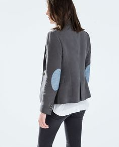 Just bought this from Zara - BLAZER WITH ELBOW PATCHES from Zara