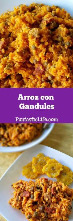 Arroz Con Gandules Recipe (Rice and Pigeon Peas) #recipes #rice
