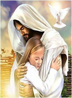 Jesus Christ hugs you Jesus Christ Painting, Jesus Artwork, Superman Artwork, Jesus Loves Us, Pictures Of Jesus Christ, Jesus Pics, Christian Images, Jesus Is Coming, Faith Prayer
