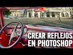 Crear reflejos en photoshop - YouTube