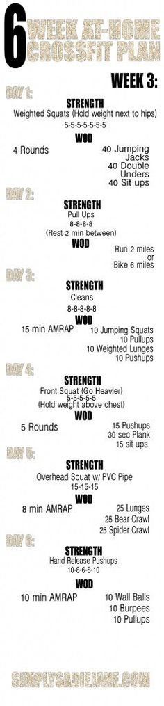 WEEK 3: 6 WEEK AT-HOME WORKOUTS!