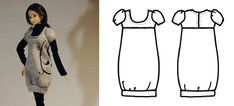 dress*up knit bubble dress & other free patterns for Momoko doll