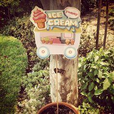 Ice cream party garden accessory Rhubarb Marmalade, Party Garden, Ice Cream Party, Garden Accessories, Beach House, Outdoor Decor, Fun, Photography, Design