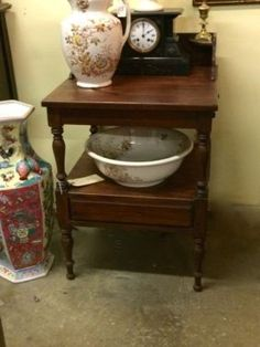 19th Century Style Wash Stand   $115  Butler Creek Antiques Dealer #8804  Lucas Street Antiques 2023 Lucas Dr. Dallas, TX 75219  Like us on Facebook: https://www.facebook.com/pages/Butler-C