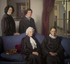 A historic portrait of the four female U. Supreme Court Justices - retired Justice Sandra Day O'Connor and Justices Ruth Bader Ginsburg, Sonia Sotomayor and Elena Kagan - was displayed this morning for the first time at the National Portrait Gallery. Great Women, Amazing Women, Amazing People, Beautiful People, Sandra Day O'connor, Sonia Sotomayor, Sutra, Supreme Court Justices, Us Supreme Court