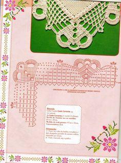 Crochet Edging Tutorial, Crochet Border Patterns, Crochet Lace Edging, Crochet Wool, Crochet Diagram, Crochet Chart, Thread Crochet, Filet Crochet, Crochet Flowers