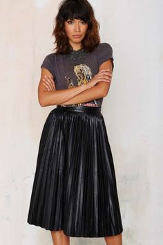 Bleecker Pleated Midi Skirt - Skirts