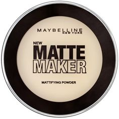 Maybelline New York Matte Maker Mattifying Powder (£5.99) ❤ liked on Polyvore featuring beauty products, makeup, face makeup, face powder, maybelline, maybelline face makeup and maybelline face powder