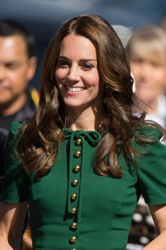 Kate Middleton Hair | Duchess Of Cambridge Hairstyles | British Vogue Duchess Kate, Duchess Of Cambridge, Queens Birthday Party, Plaited Updo, Yellow Fascinator, Kate Middleton Hair, British Monarchy History, St Patricks Day Parade, Lighter Hair