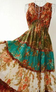 American Hippie Bohemian Style ~ Boho Dress