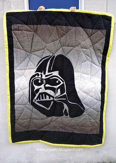 The Darth Vader Quilt  #star wars #darth Vader #quilt @Lauren O'Connell