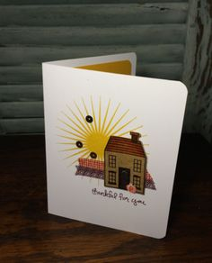 If you like fresh clean lines on your cards, you will appreciate today's Holiday Home Card using a Freshly Made Card Sketch. Card sketches are such an easy jumping off point for card design. The Holid