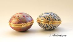 More little treasure boxes. #strebedesigns #polymerclay #handcrafted #oneofakind #treasurebox #hingedbox