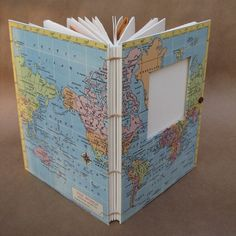 Vintage World Map Adaptable Travel Journal with by UsefulBooks