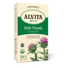 Alvita Teas Organic Herbal Tea Bags - Milk Thistle - 24 Bags