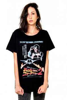 42efd96d5 T-shirt (slim) Korova Poster Back to the Future 2 Preta