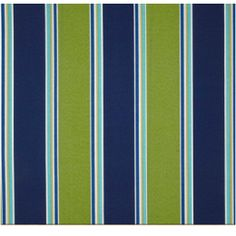 Cobalt Blue Lime Green Stripe Outdoor Fabric Po328