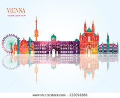 Vienna skyline. Vector illustration