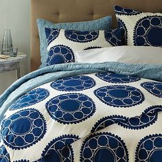 Blue Circle Duvet Cover.......want this!