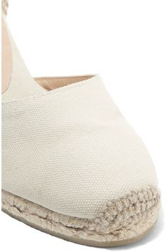 Castañer - Carina Canvas Wedge Espadrilles - Beige - IT38