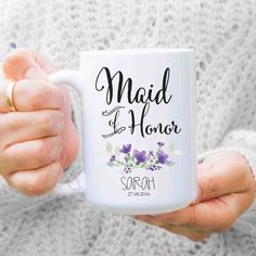 maid of honor gift, bridesmaid gifts, giftts for maid of honor, moh gift, gifts for sister, maid of honor mug, maid of honor proposal MU262 by artRuss on Etsy