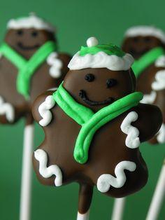 Gingerbread Men Cake Pops   by The Cake Poppery