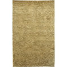 Hand-knotted Resonate Pale Moss Design Rug