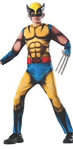 Marvel Collection Deluxe Muscle Chest Wolverine Child Halloween Costume, Medium
