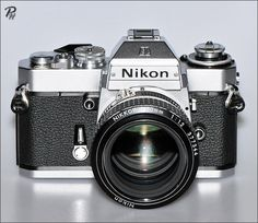 Vintage Cameras Nikon with motor drive Nikon Digital Camera, Slr Film Camera, Camera Nikon, Camera Gear, 35mm Film, Antique Cameras, Old Cameras, Vintage Cameras, Photography Camera