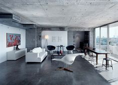 Eames la chaise plus concrete.  Barbara Hill Design