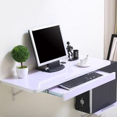 Simple home desktop computer desk simple small apartment new space-saving wall t. Simple home desktop computer desk simple small apartment new space-saving wall table Floating Computer Desk, Wall Mounted Computer Desk, Desktop Computer Desk, Computer Desk Design, Wall Mounted Table, Floating Desk, Pc Desk, Desktop Computers, Office Desk