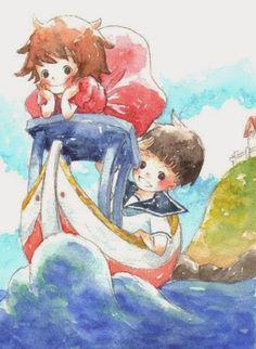 Ponyo and Sosuke :3