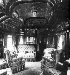 Interior view, Private Pullman Palace Car, ca. mid-19th c.