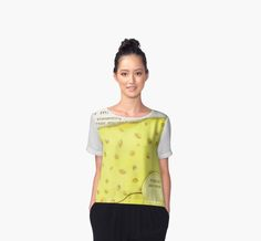 'Painted Green Pattern' Chiffon Top by ekcprints Daisy Pattern, Green Pattern, Chiffon Shirt, Chiffon Tops, Baby On The Way, Street Wear, Tunic Tops, Cute, How To Wear