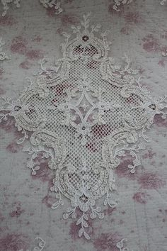 French antique Tambour lace, c. 1890's