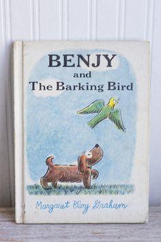 Vintage Kids Book Benjy and The Barking Bird Retro Childrens