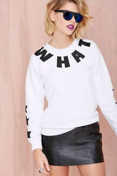 Local Heroes Whatever Sweatshirt | Shop Clothes at Nasty Gal #streetstyle