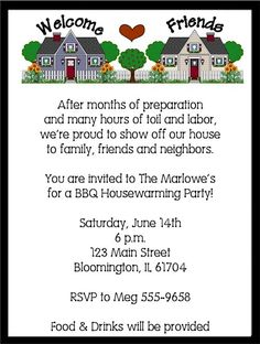 lots of housewarming party invitation cards like this wine and