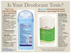 What is in your deodorant? Hopefully not aluminum and other chemicals. YL has a great deodorant or you can use a drop or two of lavender or some people even use Thieves toothpaste.