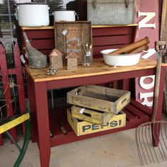 Potting Bench by the Redneck Designers