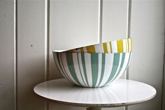 Cathrineholm of Norway very large bowl designed by Grete Prytz Kittelsen. from blueflowervintage.