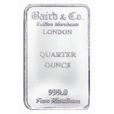 Baird Mint 1/4 Ounce Rhodium Bar