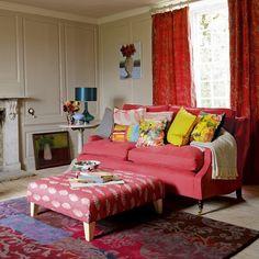 Bold rot Wohnzimmer Wohnideen Living Ideas Interiors Decoration