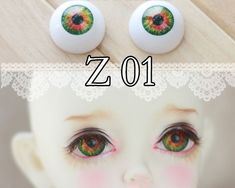 Reborn Doll Eyes by  Pabol MC10 Oriental// Asian Brown 24mm Fast Shippng