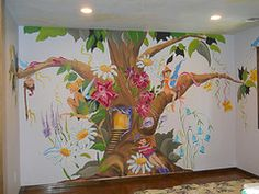 Fairy tree mural painted by Arlene Mcloughlin
